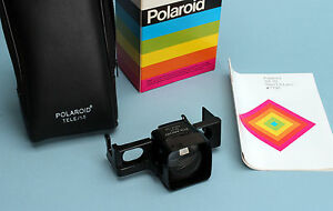 New-in-Box-Polaroid-SX-70-Tele-1-5-Lens-119A-use-with-039-039-Impossible-039-039-film