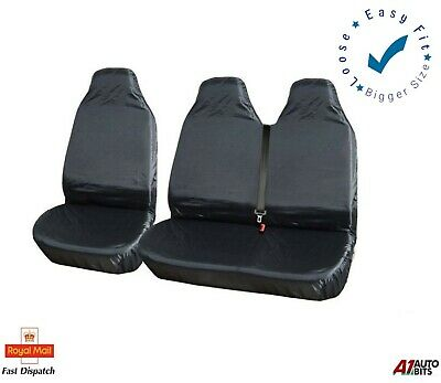 VW CRAFTER XTRA HEAVY DUTY BLUE WATERPROOF VAN SEAT COVERS 2+1