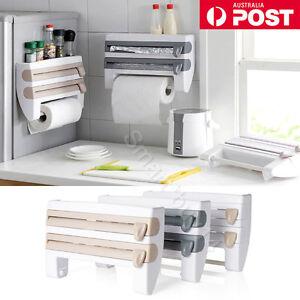 Kitchen-Cling-Film-Sauce-Bottle-Storage-Rack-Paper-Towel-Holder-Kitchen-Tool-AU