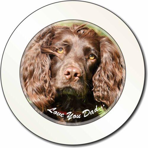 Cocker Spaniel Dog 'Love You Dad' Car/Van Permit Holder/Tax Disc Gift, DAD-103T