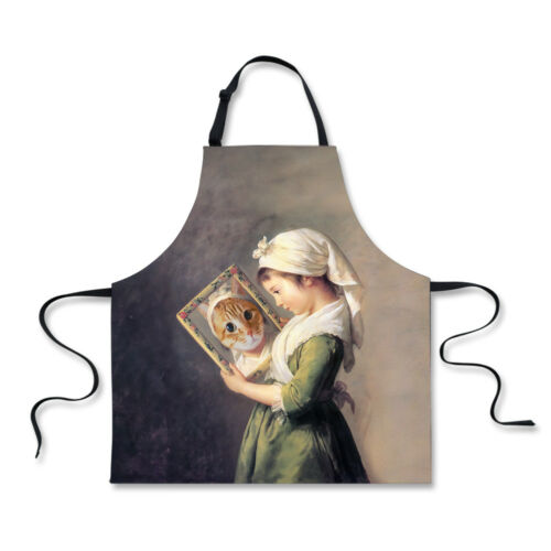 Painting Cat Apron Dress Waist Aprons Home Kitchen Cooking Restaurant Chef Vest