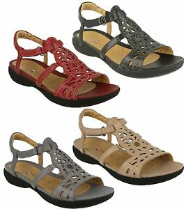 LADIES-CLARKS-LEATHER-OPEN-TOE-T-BAR-RIPTAPE-WEDGE-SUMMER-SANDALS-UN-VALENCIA