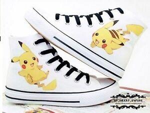 d91750c973a3 Children s Anime Hand-Painted Fans Canvas Shoes Pocket Monster ...