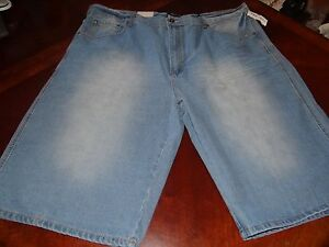 NEW-NWT-BIG-amp-TALL-ROYAL-BLUE-BRAND-RELAXED-FIT-DENIM-SHORTS-SIZE-46