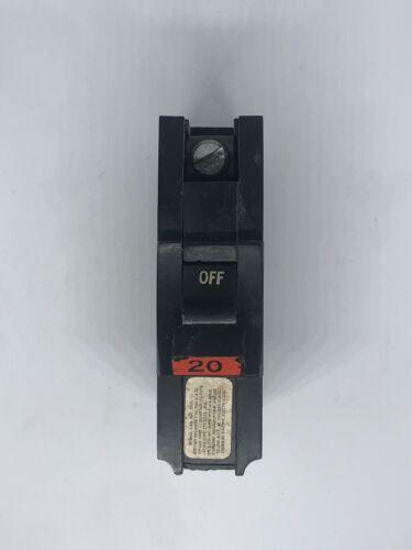 NA120 Federal Pacific 20 Amp Stab-Lok FPE 1 Pole  Breaker