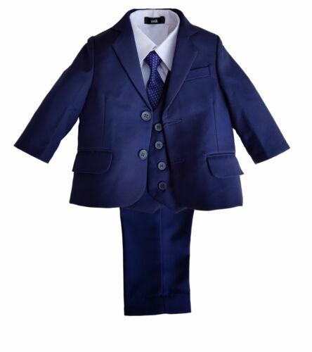 Kinderanzug Babyanzug Festlich Jungen Anzug Festanzug blau Baby Taufanzug 5tlg
