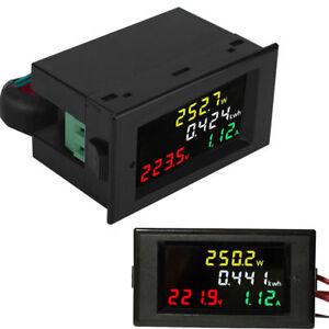 AC-80-300V-100A-Color-LCD-Digital-Voltmeter-Amperemeter-Volt-Amp-Power-Kwh-Meter