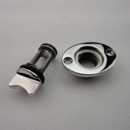 Fits 1/'/' Hole Thread for 3//4/'/'Cool Stainless Steel Boat Oval Garboard Drain Plug
