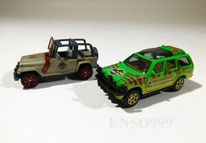 Matchbox-Jurassic-World-Legacy-Collection-039-93-FORD-EXPLORER-amp-JEEP-Jurassic-Park