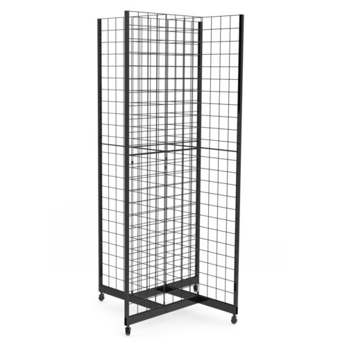 Metal Wire Gridwall Fixture Gridwall Display Gridwall Stand Wheels Commercial