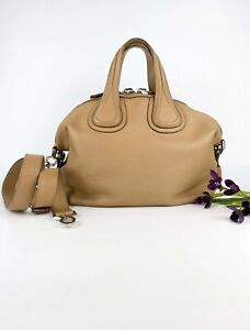 Excellent condition! Givenchy Nightingale Small calfksin dark beige