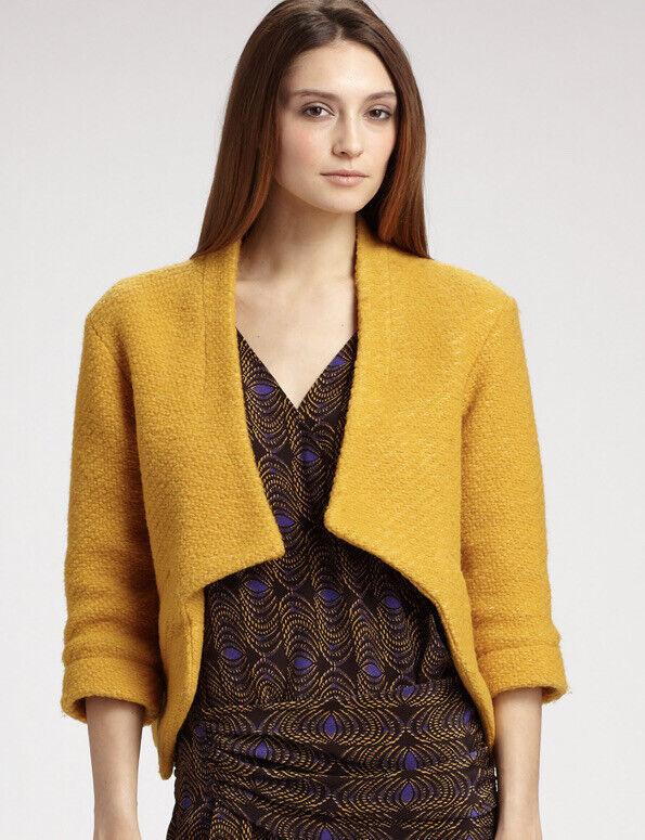 Thakoon Yellow Textured Knit Jacket 4 - image 1