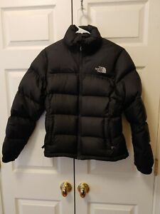 Vtg Women The North Face Black Nuptse 700 Down Puffer Winter Coat Kylie Size S