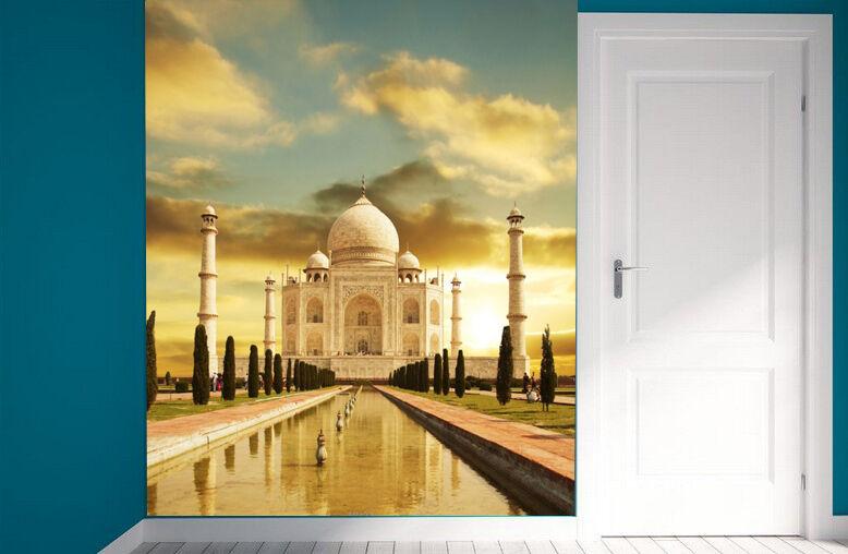 3D Taj Wolken Gebäude Fototapeten Wandbild Fototapete Bild Tapete Familie Kinder