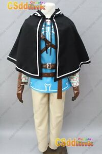 The Legend of Zelda Breath of the Wild Link Cosplay Costume Outfit Suit Cape