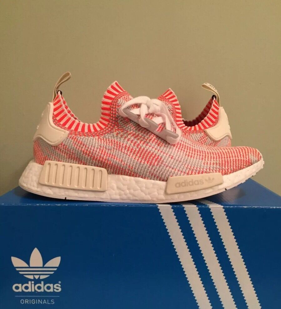 DS Adidas Nmd R1 Pk White Red Pink Camo Sz 11 Ba8599 Primeknit Zebra Yeezy Boost