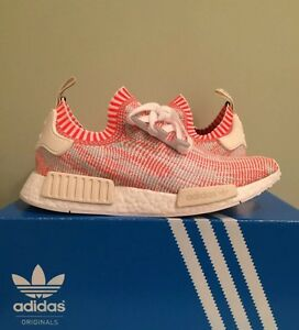 453f75a0d DS Adidas Nmd R1 Pk White Red Pink Camo Sz 11 Ba8599 Primeknit Zebra ...