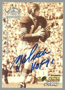 Y-A-Tittle-1994-Signed-QB-Legends-Card-W-034-HOF-71-Inscription-100-GUARANTEED