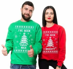 Christmas Sweaters For Couples.Details About Ugly Christmas Sweater Couple Matching Sweatshirts Christmas Party Sweaters
