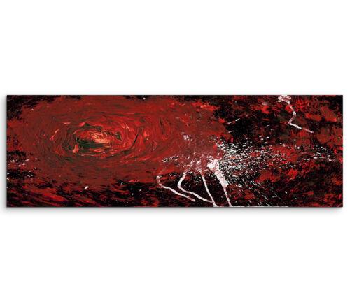 Leinwandbild Panorama rot weiß schwarz Paul Sinus Abstrakt/_728/_150x50cm