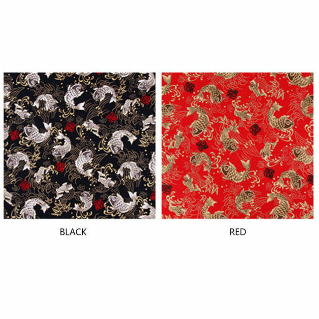 Japanese 100/% Cotton Traditional Kimono Pattern Craft Fabric Dragonfly Black FQ