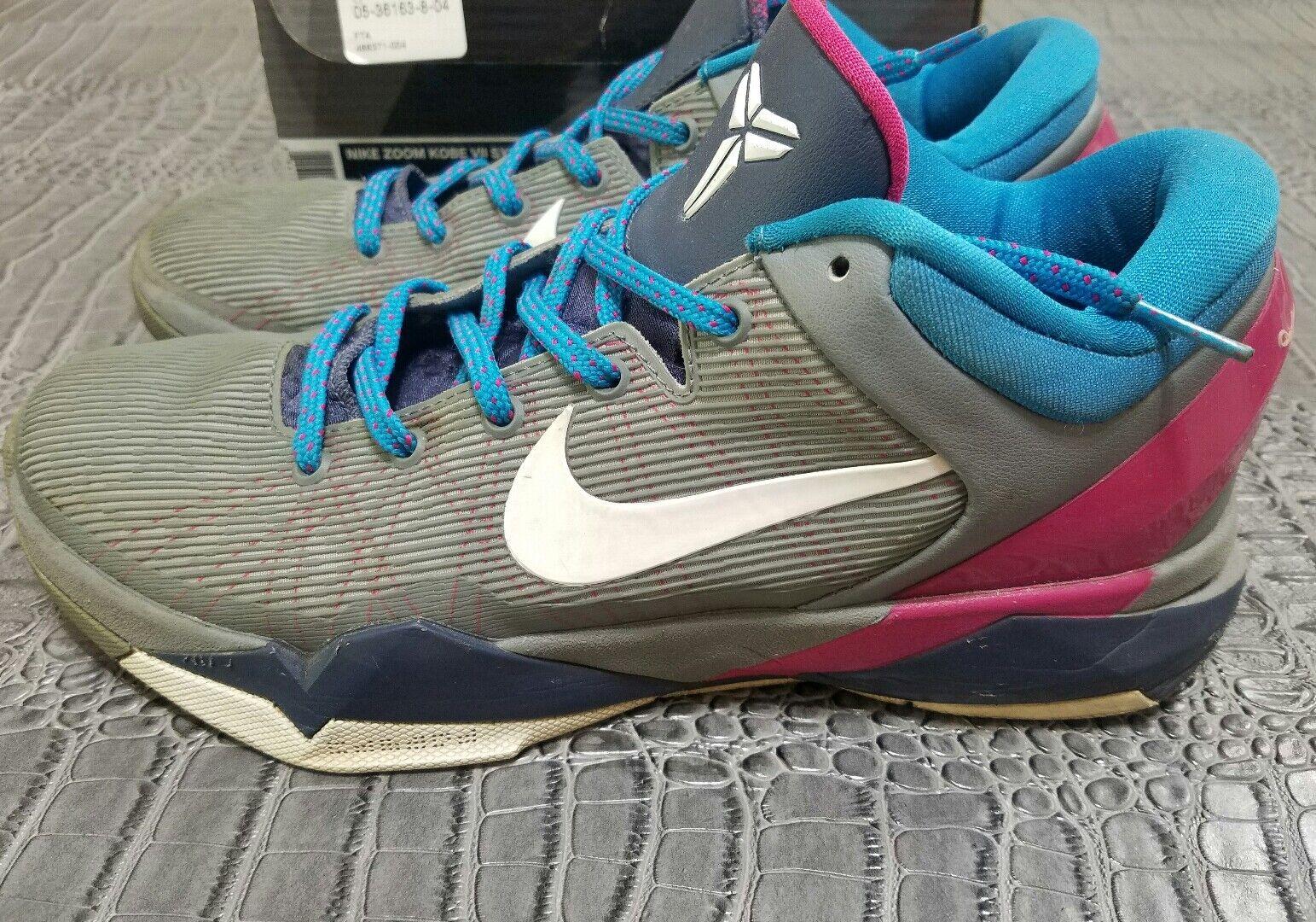 Nike Zoom KOBE VII 7 SYSTEM WBF COOL GREY WHITE BLUE FIREBERRY  488371-004 8.5