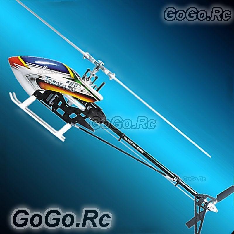 Tarojo 450 Pro V2 FBI de fibra de carbono Basic Kit Trex Helicóptero (rh20006-b) Plata