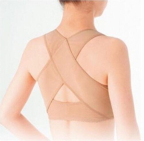 Lady Womens Back Posture Corrector Chest Reshape Shoulder Brace Band Belt X Type