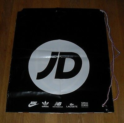 JD Duffle Bag Draw String Plastic Sports School PE Swimming Black White Yellow
