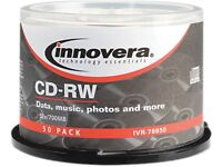 Cd-rw Discs, Rewritable, 700mb/80min, 12x, Spindle, Silver, 50/pack on sale
