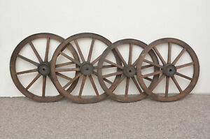 set-of-4-vintage-old-wooden-cart-carriage-wagon-wheels-wheel-45-cm-40-cm