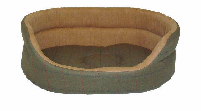 Tweed Green Slumber Bed 76cm (30'')