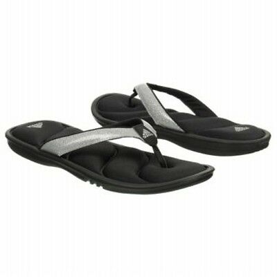 como escoger compra venta zapatos para baratas ADIDAS Girl Chilwyanda Black Silver Thong FF FitFoam Flip Flops ...