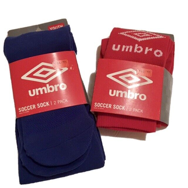Umbro Royal Blue Soccer Socks 2-pack Youth Size Small for sale online