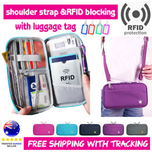 RFID-Travel-Wallet-Passport-Card-Holder-Pouch-Organiser-iPhone-XS-Zip-Case-Tag