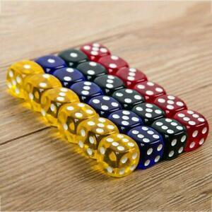 24Pcs-4-Colors-Six-Square-Transparent-Game-Dice-16MM-Standard-Game-Dice-Sets