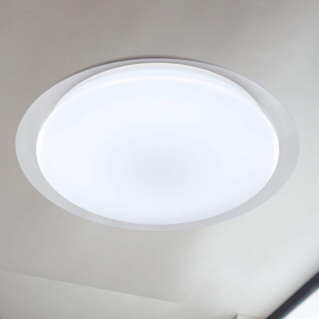 Wofi LED Deckenleuchte Jaden Weiß Dimmbar Fernbedienung Nachtlicht 56 Watt