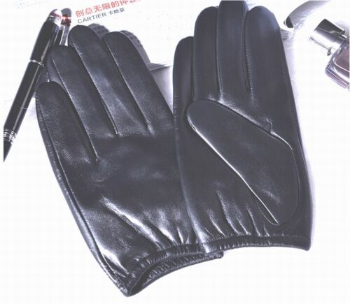 New Men/'s Police Tactical Gloves 100/% Real Leather Drive Gloves *Black//Brown