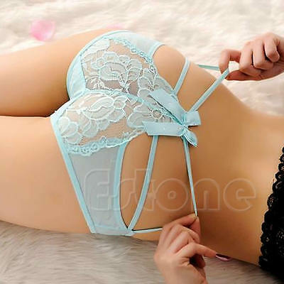 Women Cute V-string Briefs Panties Sexy Lace Thongs G-string Underwear Lingerie