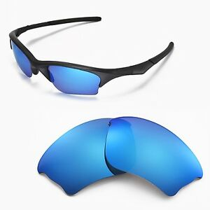new walleva ice blue replacement lenses for oakley half
