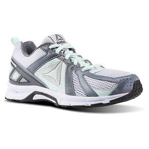 Reebok Runner Memory Tech Grey Dust Mist-Wht-Blk Womens Running ... eb44e134e