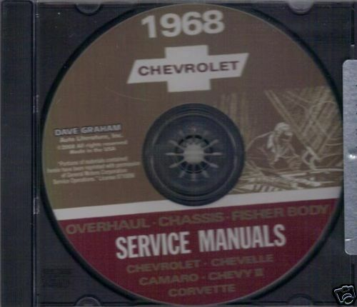 1968 CAMARO//SSCHEVELLE//SS SHOP BODY REPAIR MANUAL