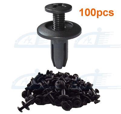 100Pcs No 6 U-shaped Clip Screw Nut Fasteners Fit For Car Engine Fender Bumper