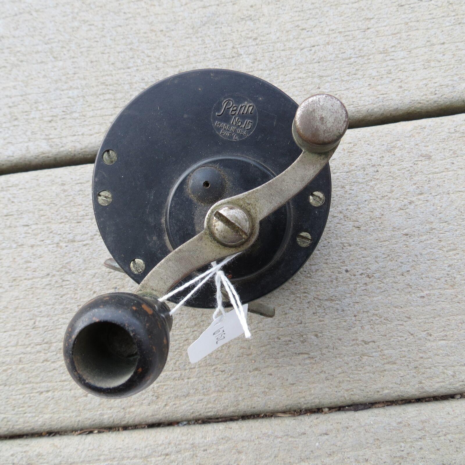 Vintage Penn No. 15 fishing reel   reel made in USA Pat. D original handle  (lot 6752) 074c12