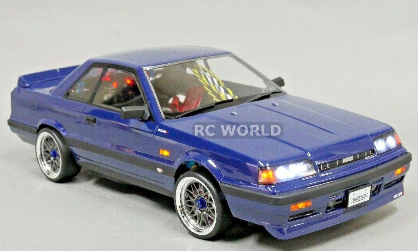 1 10 RC Coche Cocherocería Nissan Skyline R31 190mm  acabado  Azul