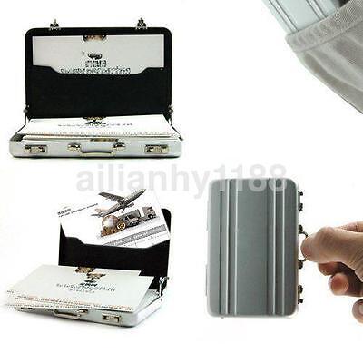Credit Card Holder Box  Aluminium Metal Mini Briefcase Suitcase Business 1Pc HOt