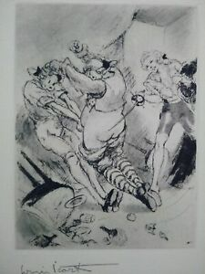 Rare louis icart etching signed scene duel curiosa scene galante perfect condition