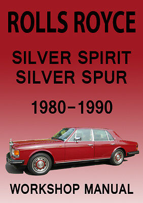 rolls royce silver spirit silver spur workshop manual 1980 1988 rh ebay com Intek 190 Pressure Washer Manual workshop manual 1980 porsche 928