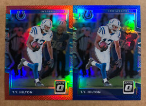 2-2017-TY-HILTON-PANINI-DONRUSS-OPTIC-BLUE-RED-REFRACTOR-LOT-99-149-COLTS