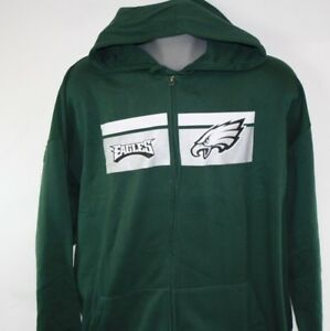 6a03c749 NEW Mens MAJESTIC Philadelphia Eagles NFL Football Green Full Zip Up ...